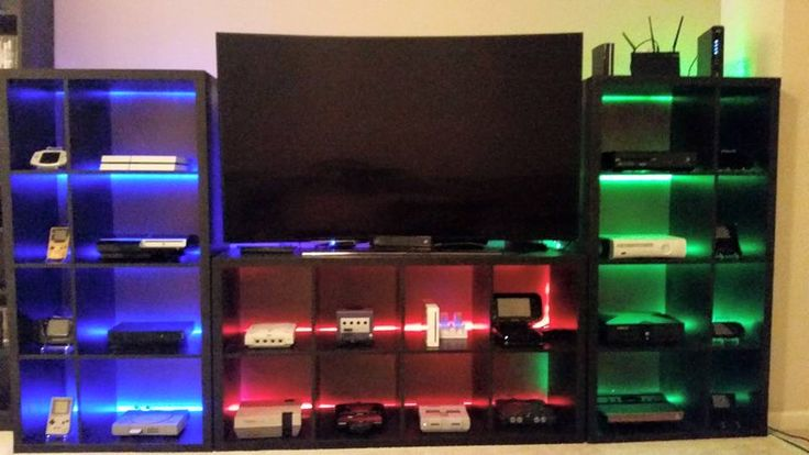 my video game setup showing 24 systems including handhelds completely customized the kallax. Black Bedroom Furniture Sets. Home Design Ideas