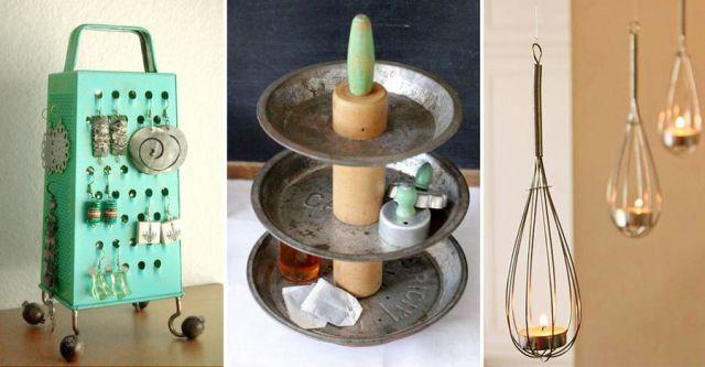 23 kreativa sätt att återbruka gamla köksprylar