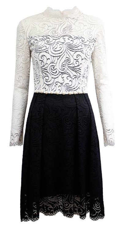 white/black dress from L`Ame de Femme