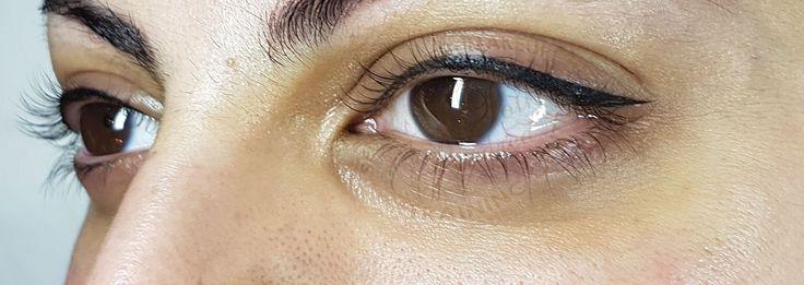 Top eyeliner after treatment