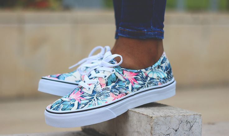Vans Authentic Tropical disponible sur Courir.com | Custom ...