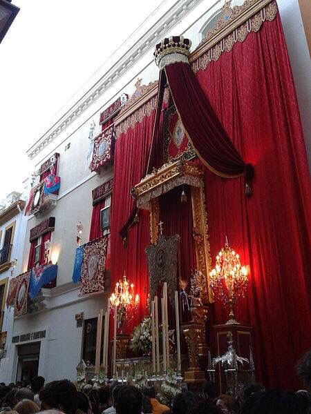 Corpus Christie procession in Seville, Spain