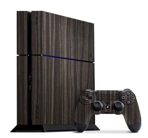 Gold Flake Ebony for the Sony PS4, get yours today at www.slickwraps.com