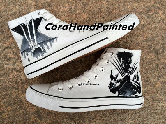 X-Men Custom Painted Shoes Custom Hand Painted Shoes Canvas Shoe – Birthday Gifts