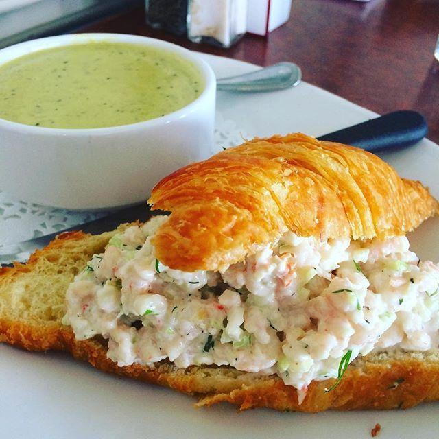 #shrimp #salad #croissant on #lunch menu this week 😎#sockeyecity #Steveston