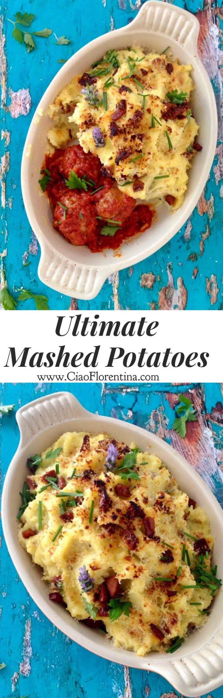 Ultimate Mashed Potato Recipe with Sour Cream, Butter, Garlic and Andouille | CiaoFlorentina.com @CiaoFlorentina #mashedpotatoes #sides
