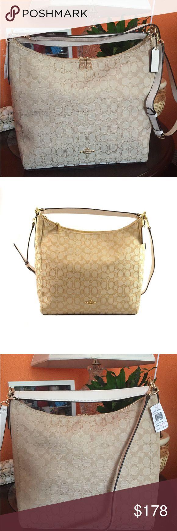 Coach signature hobo crossbody bag Beautiful elegant use like handbag or crossbody Coach Bags Crossbody Bags