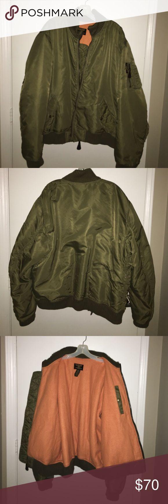 Green bomber jacket army surplus