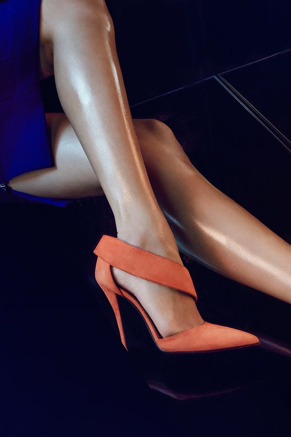 Bright & Bold: Narciso Rodriguez's 'Camilla' Suede Pumps are the perfect way to brighten up any ensemble.