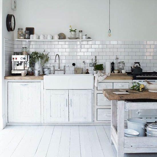 Retro Modern Kitchen Decorating Ideas, Open Kitchen Shelves for Storage