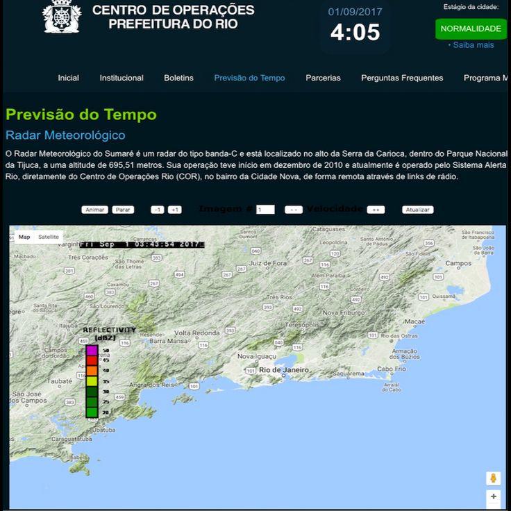 Radar Meteorológico [Centro de Operações da Prefeitura do Rio de Janeiro] http://cor.rio ②⓪①⑦ ⓪⑨ ⓪①
