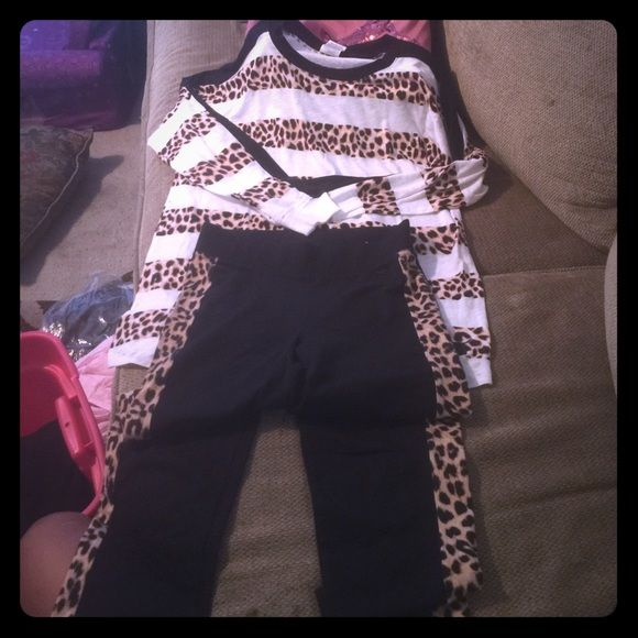 NWT VS Pink Cheetah Outfit XS/S Top is XS Leggings are a Small PINK Victoria's Secret Other