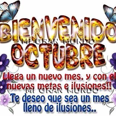 Bienvenido Octubre 2014‼️