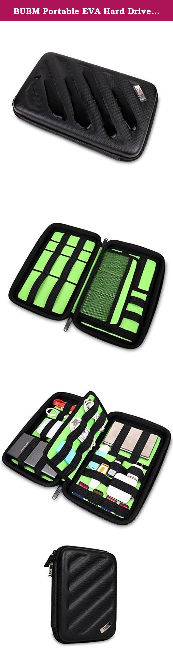 BUBM Portable EVA Hard Drive Case Travel Organizer for Electronics (1 Black Large). EVA bag store a lot of important information relevant to you,it is to our life bring infinite convenience,and BUBM you can bring endless care for it,because we build strong to protect the hara disk pack BUBM EVA,not only hope that it will be your daily love,the more hope that you can love hand in it. Product Features: 1.Made of EVA material for superstrong water-proof effect, durable, semi-rigid exterior…
