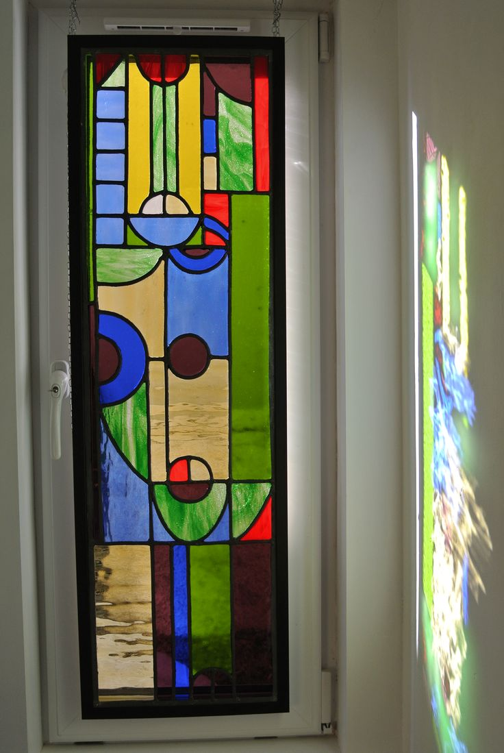 Stained glass for a window