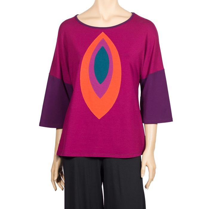 Camiseta psicodélica de mangas acampanadas. #Colores #Hippy #Ropa