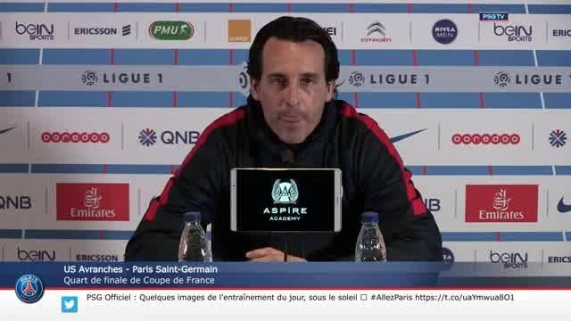 Conférence de presse d'Unai Emery avant le quart de finale de Coupe de France du Paris Saint-Germain face à l'US Avranches.