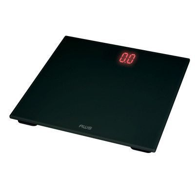 American Weigh Scales Digital Glass LED Weight Scale Color: Black/Red