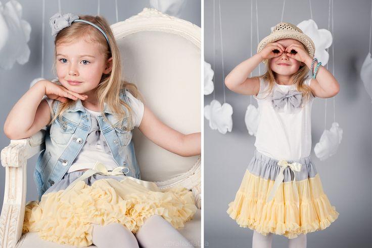 Tutu Pettit Skirt Love & Joy żółta 2-4latka - Ubranka na chrzest - Abrakadabra Sklep