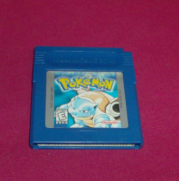 Pokemon Blue Version  (Nintendo Game Boy, 1996) Saves & Tested