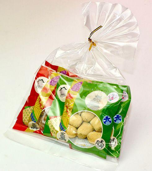 ポチ袋(きなこだんご、ソフトきなこ) - げんこつ飴の【高田屋製菓】