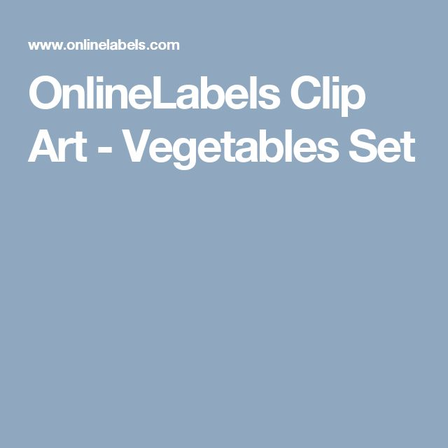 OnlineLabels Clip Art - Vegetables Set