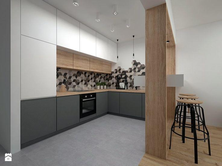 Mieszkanie - 40 m2 - Kuchnia, styl skandynawski - zdjęcie od BIG IDEA studio projektowe