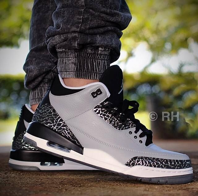 "Air Jordan 3 ""Wolf Grey"" just want these shoes SO bad! Anybody got two hundred dollars they not using? Lol"