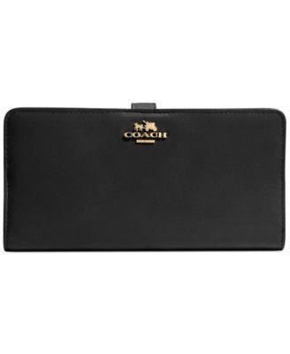COACH Skinny Wallet in Leather | macys.com