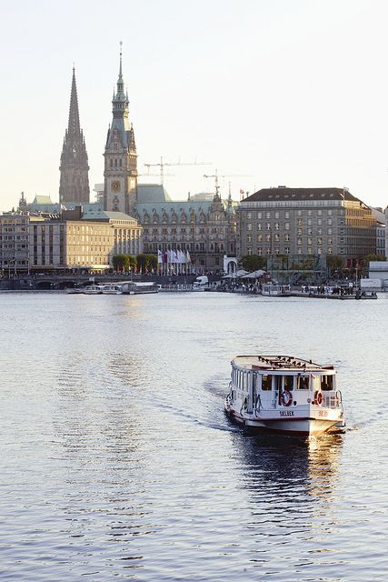 Binnenalster in Hamburg, Germany -  by LoboStudio