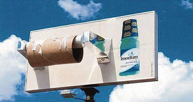 Reklamní billboard na prostředek proti akutnímu průjmu