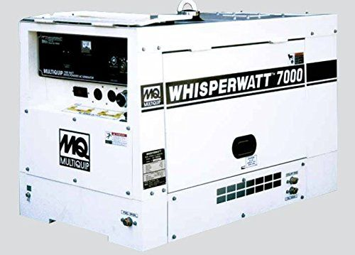 Multiquip Portable Diesel Generator - DA7000SSA1, 7 kW, 12.5 HP
