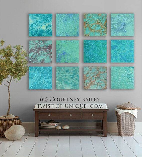 Large abstract Painting Custom 12 square by TwistOfUnique, $600.00
