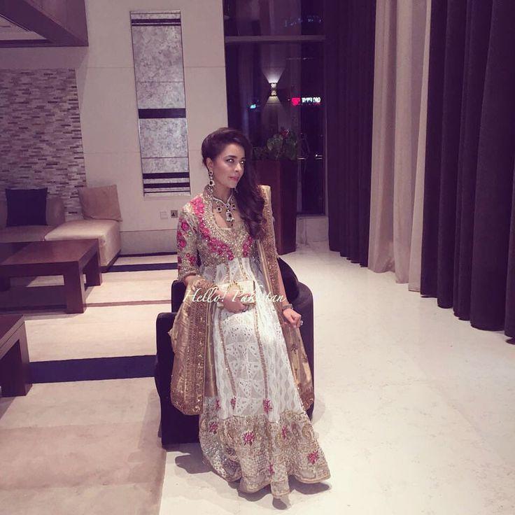 "863 Likes, 3 Comments - HELLO! Pakistan (@hellopakistan) on Instagram: ""Hello! Spots Maliha Aziz wearing FarahTalibAziz at Asher Schôn and Shahbano Munirs wedding tonight…"""