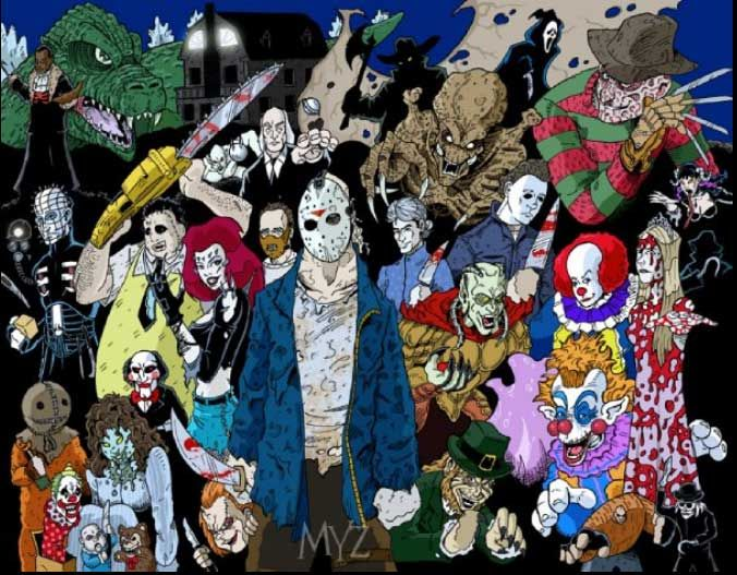 Scary Movie Characters | Horror Movie Maniacs by ~Myzery-Creations ...