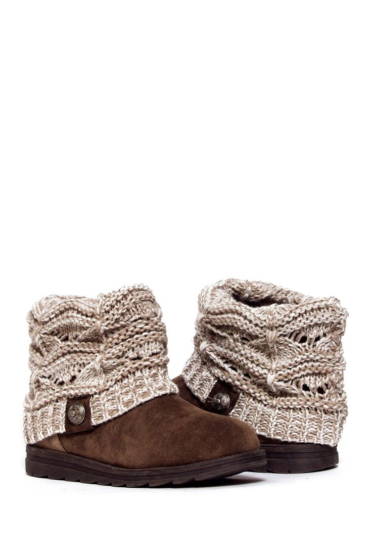 MUK LUKS | Patti Cable Cuff Boot | Nordstrom Rack