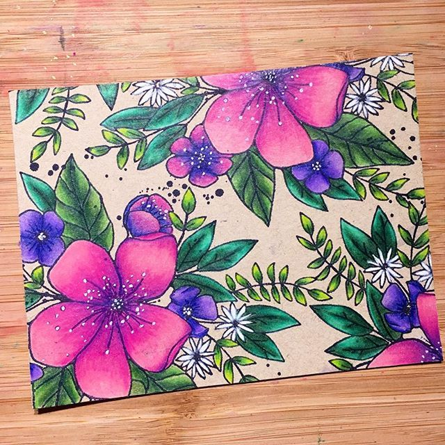 66 best cards with colored pencil coloring images on Pinterest ...