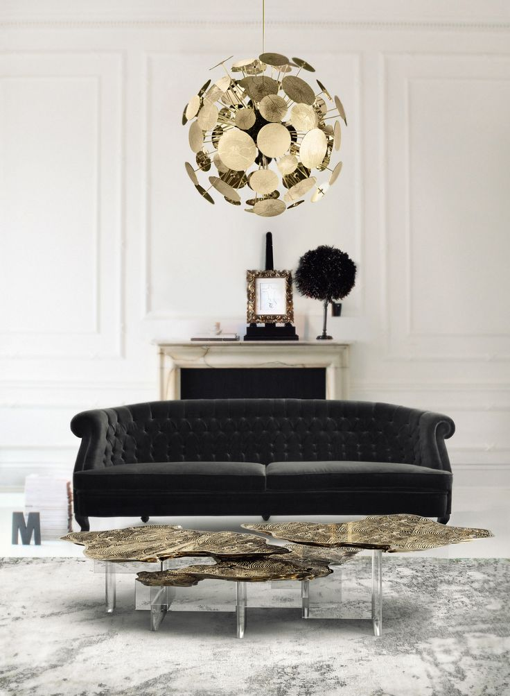 Monet Center Table by Boca do Lobo | Is a unique and sophisticated furniture piece for contemporary home décor or living room décor | Find out more at: https://www.brabbu.com/en/upholstery/maree-sofa/ | #luxuryfurniture