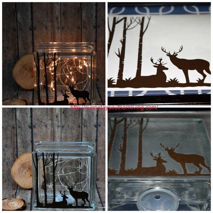 Deer Silhouette Glass Block Tutorial