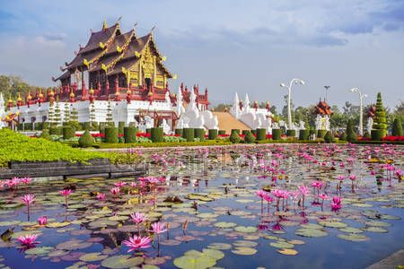 imagesthai.com royalty-free stock images ,photos, illustrations, music and vectors - Chiangmai royal pavilion