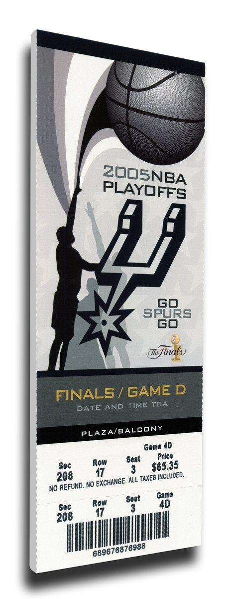 2005 NBA Finals Canvas Mega Ticket - San Antonio Spurs