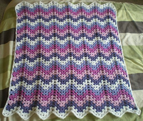 38 best images about Crochet Baby Granny Ripple Blankets on Pinterest