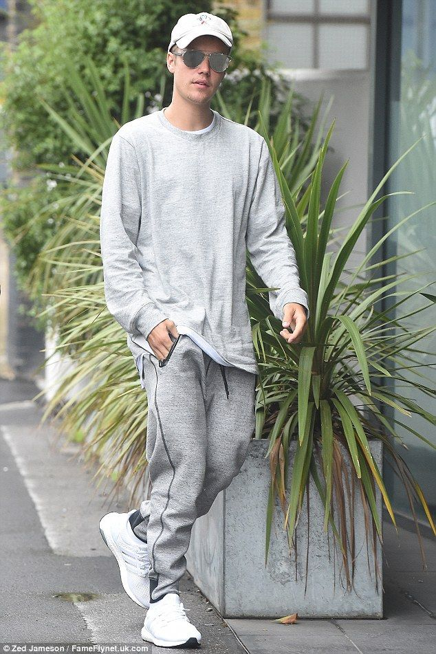 Retail therapy: On Friday Justin Bieber looked care-free as he hit the designer shops on Bond Street, London