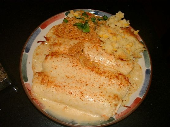 Chi Chis Seafood Enchiladas Recipe - NOTE FROM PINNER: You can find lobster base at Amazon.com, they sell Better Than Bouillon & Minor's brands.  Several reviewers said that this recipe is better without the can of baby shrimp.  Several reviewers said that if you use regular cooking sherry, you should reduce the amount a bit so it is not overpowering.  Many people felt that this tasted very similar to the restaurant Chi-Chi's version.