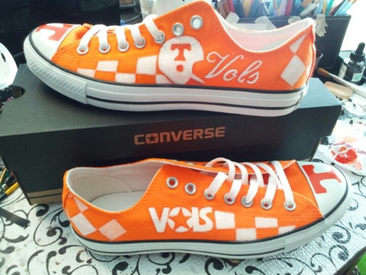 Why didn't I know about these!? I want them!!!  Tennessee Vols Converse