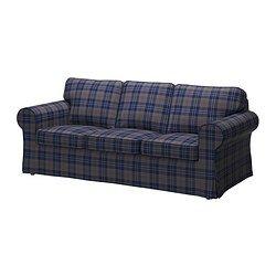 EKTORP Capa p/sofá de 3 lugares - Rutna multicor - IKEA