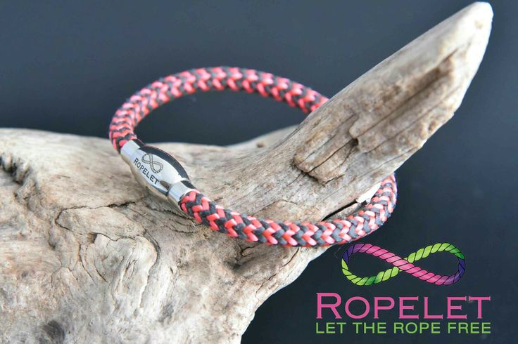 This stunning pink and charcoal Ropelet is just one of those available in our online shop at www.ropelet.co.uk.  With prices from under £5 you will be amazed at the choice of rope and leather bracelets.  Only made to your order giving you the choices of how they are made, Ropelet brings you fashion and value for men and women.  #ladiesbracelet #fashionbracelet #fashionaccessories #wakeboarding #kiteboarding #surfer #windsurfing #rockclimbing #waterski #skiing #climbingbracelet…