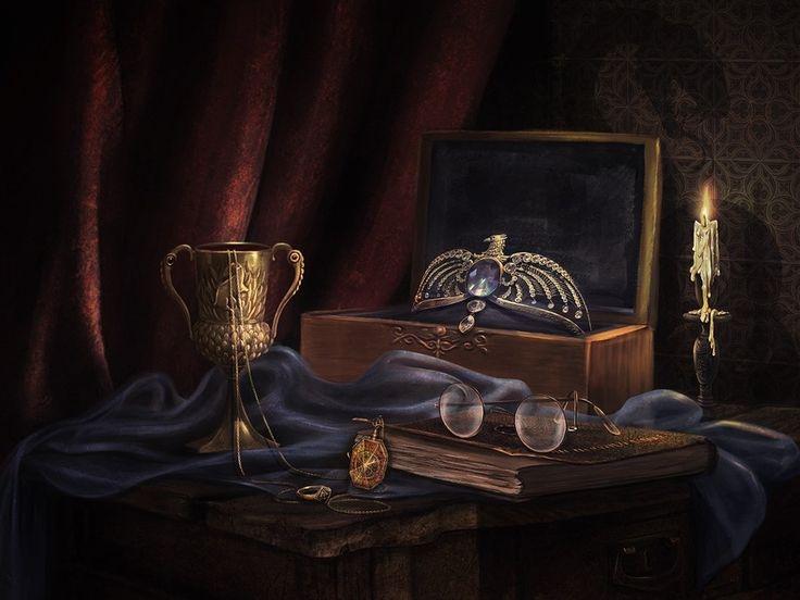 The Seven Horcruxes, Incantata Art on ArtStation at…