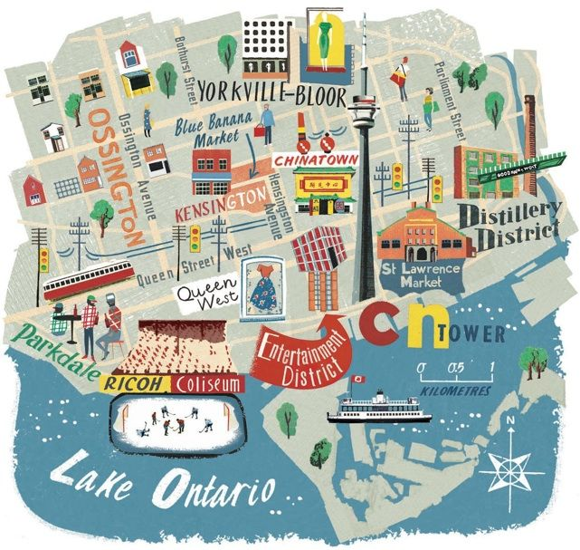 Toronto map - Anna Simmons                                                                                                                                                                                 More
