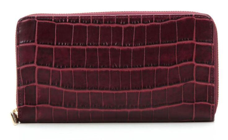wardow.com - Geldbörse von Furla, Zip Around XL Geldbörse Damen Leder burgunderrot 19 cm